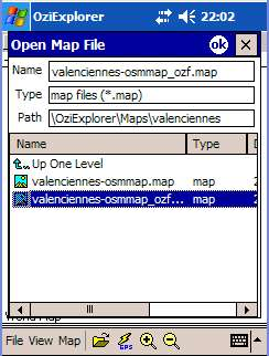 OziCE openmap select map.jpg