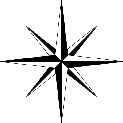 File:Compass-rose-basic-thin-400.png
