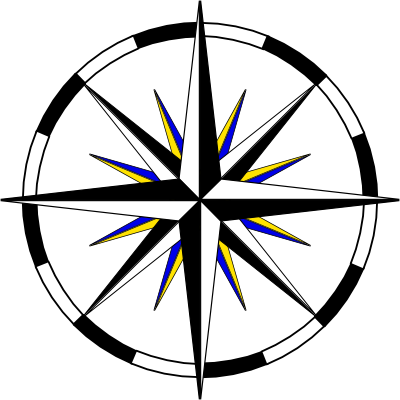 File:Compass-wheel-black-white-blue-yellow-400.png