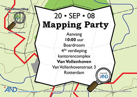 Poster Mapping Party Rotterdam Zaterdag