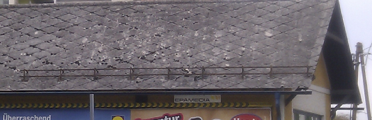 Roof covered with slates