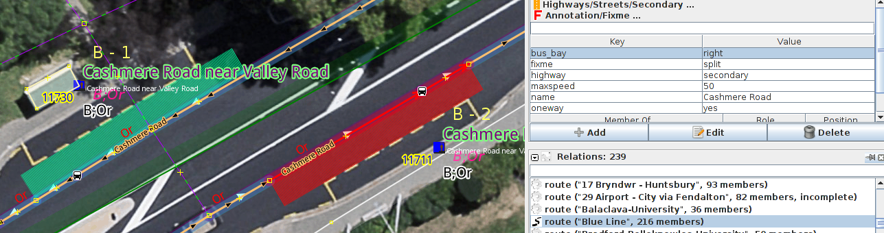 Add bus_bay=left (left hand traffic) and stop_position nodes on highway. This is entirely optional.
