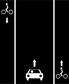 File:Oneway cycle lane left right.png