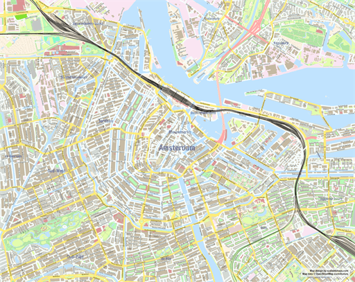 Scalablemaps Openstreetmap Wiki: Amsterdam Map Printable At Slyspyder.com