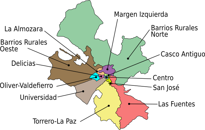 File:Mapa Distritos de Zaragoza.png