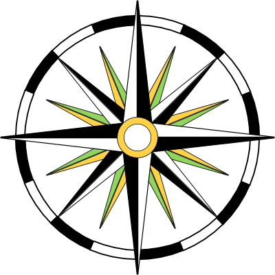 File:Compass-wheel-black-white-osmcolours-background-400.png