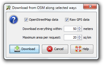 File:Download from OSM along selected ways.png
