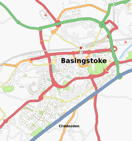 Map of Basingstoke, Jun 2008