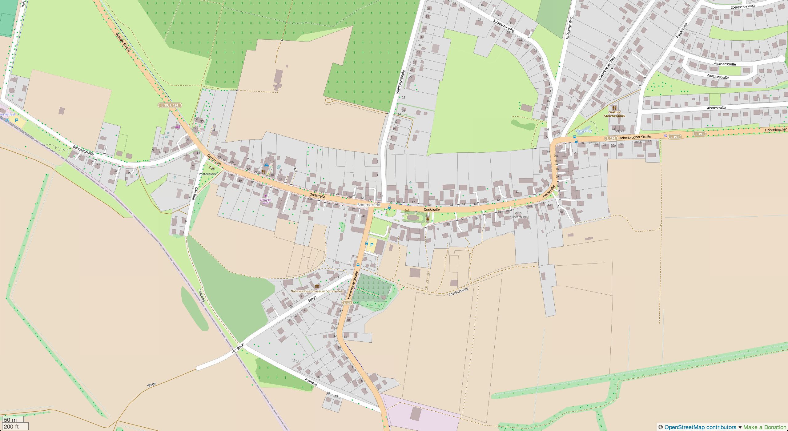 (Openstreet) Map of Sommerfeld
