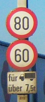 File:Speed limit of 60 for HGV with weight more than 7.5t.jpg