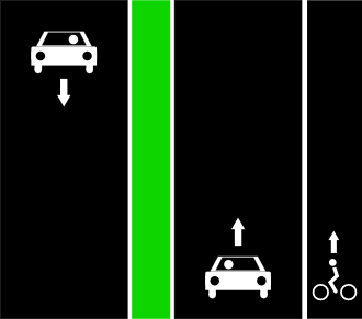 File:Separate car lanes cycle lanes right only.png