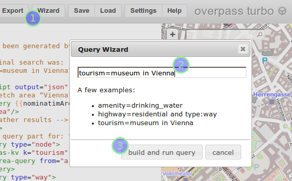 Query Wizard in action