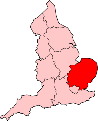 Map of East of England