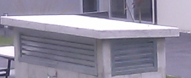 Roof made of concrete