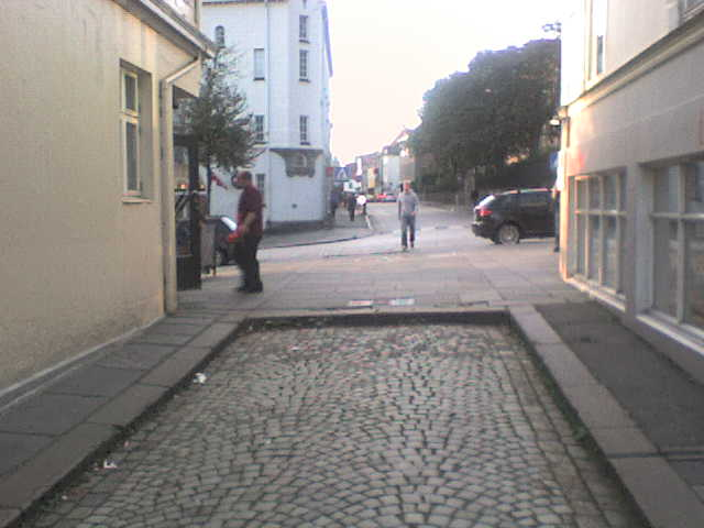 File:Photo-Small Street sidewalk-blocked.jpg