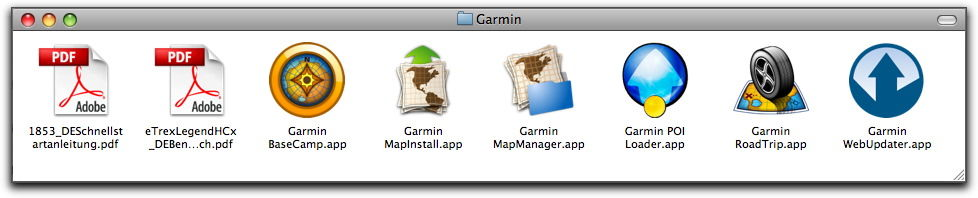 Garmin-Software für den Mac
