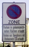 File:Sign no parking zone residents.jpg