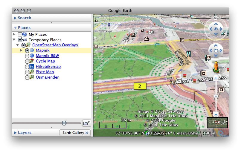 Osm In Google Earth Openstreetmap Wiki