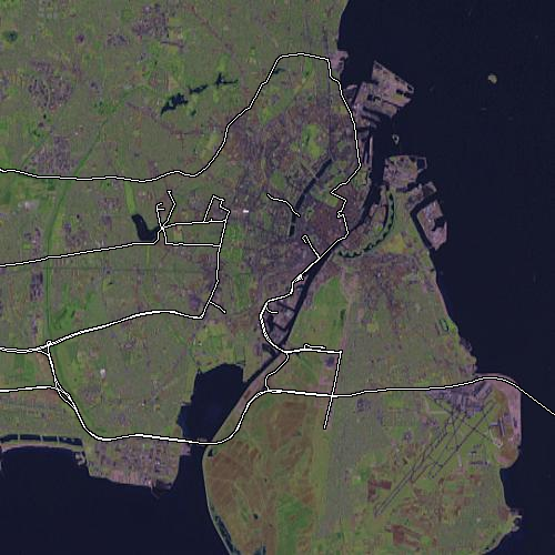 Copenhagen from OSM.Planet april 2006 dump