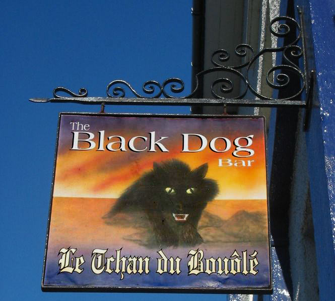 File:Black Dog Pub Sign, Bouley, Jersey.jpg
