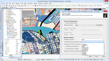 Spatial Manager™ for BricsCAD preview screen