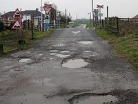 Potholes at the Level Crossing, Barrow Haven - geograph.org.uk - 1621073.jpg