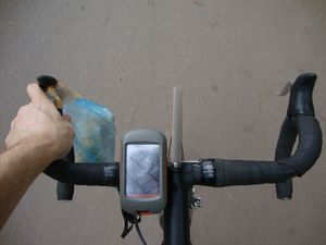 Road bike with GPS