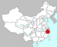 Map of Zhejiang