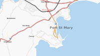 Map of Port St Mary, Isle of Man