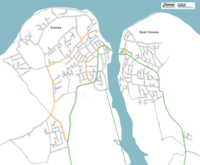 Map of Cowes