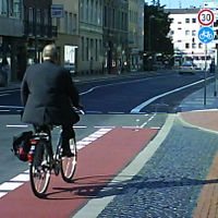 One example for cycleway