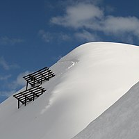 Avalanche barriers in Montafon