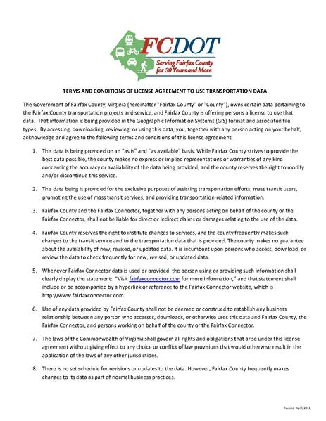 File:FCDOT TermsConditions LicenseAgreement DOTdata.pdf