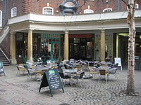 Outdoor seating area - Sussex Street - geograph.org.uk - 1257513.jpg