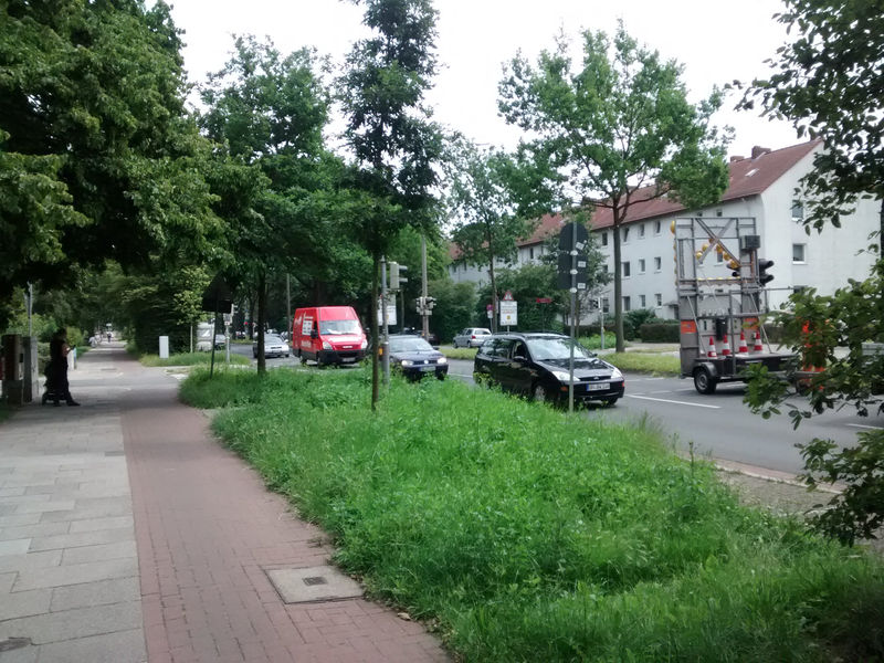 File:Bremen street with cycleway seperate way .jpg