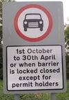 Cambridgeshire byway winter closure sign.jpg