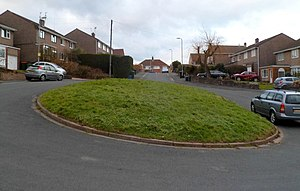 Turning circle at the far end of Arlington Close, Malpas, Newport (geograph 2805869).jpg
