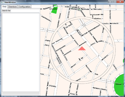 Screenshot of Gnome Map Application