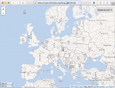 WikiMedia Internationalised Maps - Europe in Japanese.png