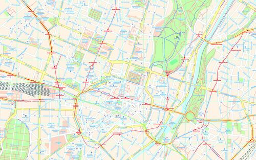 Munich City map developed with Maperitive