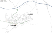 Map of Reigate