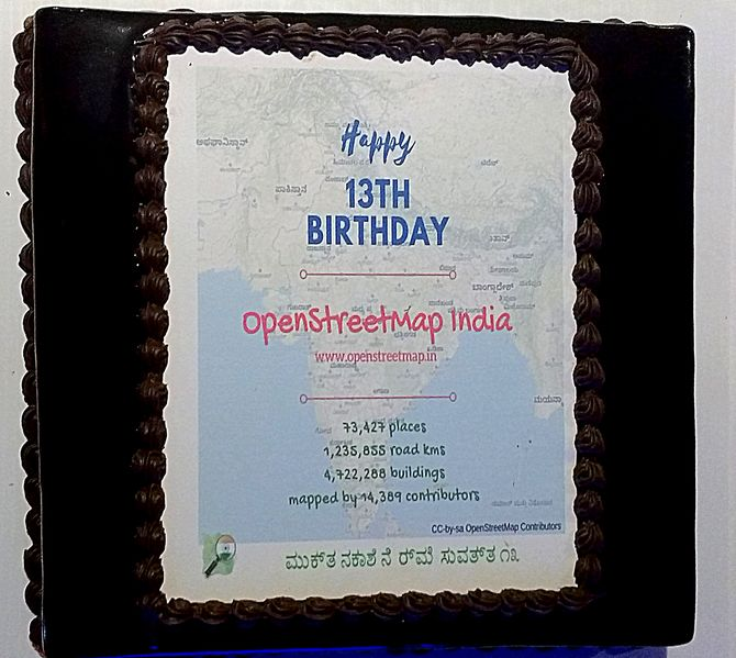 File:OpenStreetMap 13th birthday celebrations bengaluru.jpg