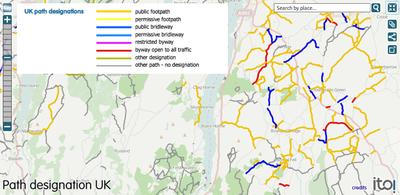 Byway Maps Uk UK access provisions   OpenStreetMap Wiki