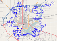 Map of Decatur