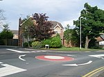 Mini-roundabout in Staining - geograph.org.uk - 1394614.jpg