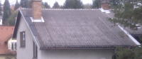 Roof with eternit