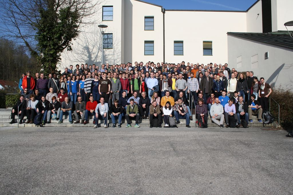 Group photo of the FOSSGIS 2017 conference attendees.