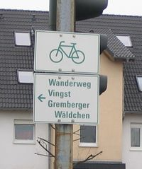 Old cycle route direction sign cologne.jpg