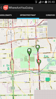 Screenshot of WhereAreYouGoing GPS Tracking