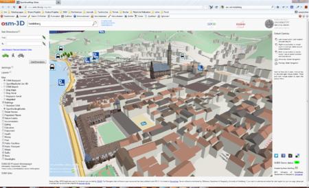 D City Visualisation Map Building